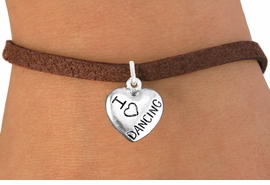 "<bR>                       EXCLUSIVELY OURS!!<BR>                 AN ALLAN ROBIN DESIGN!!<BR>        CLICK HERE TO SEE 600+ EXCITING<BR>           CHANGES THAT YOU CAN MAKE!<BR>                     LEAD & NICKEL FREE!!<BR>W1180SB - ""I LOVE DANCING"" HEART CHARM  <Br>& BRACELET FROM $4.15 TO $8.00 �2012"