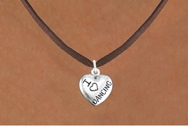 "<bR>                  EXCLUSIVELY OURS!!<BR>            AN ALLAN ROBIN DESIGN!!<BR>   CLICK HERE TO SEE 600+ EXCITING<BR>      CHANGES THAT YOU CAN MAKE!<BR>                 LEAD & NICKEL FREE!!<BR>W1180SN - ""I LOVE DANCING"" HEART CHARM <Br>& NECKLACE FROM $4.50 TO $8.35 �2012"