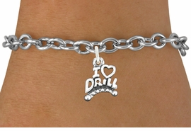"<bR>                       EXCLUSIVELY OURS!!<BR>                 AN ALLAN ROBIN DESIGN!!<BR>        CLICK HERE TO SEE 600+ EXCITING<BR>           CHANGES THAT YOU CAN MAKE!<BR>                     LEAD & NICKEL FREE!!<BR>W1181SB - ""I LOVE DRILL"" CHARM  <Br>& BRACELET FROM $4.15 TO $8.00 �2012"