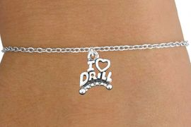 """<bR>                       EXCLUSIVELY OURS!!<BR>                 AN ALLAN ROBIN DESIGN!!<BR>        CLICK HERE TO SEE 600+ EXCITING<BR>           CHANGES THAT YOU CAN MAKE!<BR>                     LEAD & NICKEL FREE!!<BR>W1181SB - """"I LOVE DRILL"""" CHARM  <Br>& CHILDRENS BRACELET FROM $4.15 TO $8.00 �2012"""