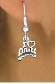 "<bR>                           EXCLUSIVELY OURS!!<BR>                     AN ALLAN ROBIN DESIGN!!<BR>            CLICK HERE TO SEE 600+ EXCITING<BR>               CHANGES THAT YOU CAN MAKE!<BR>                          LEAD & NICKEL FREE!!<BR>W1181SE - ""I LOVE DRILL"" CHARM <Br>EARRINGS FROM $4.50 TO $8.35 �2012"
