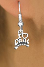 """<bR>                           EXCLUSIVELY OURS!!<BR>                     AN ALLAN ROBIN DESIGN!!<BR>            CLICK HERE TO SEE 600+ EXCITING<BR>               CHANGES THAT YOU CAN MAKE!<BR>                          LEAD & NICKEL FREE!!<BR>W1181SE - """"I LOVE DRILL"""" CHARM <Br>EARRINGS FROM $4.50 TO $8.35 �2012"""