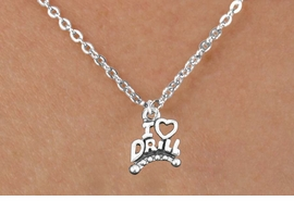 "<bR>                  EXCLUSIVELY OURS!!<BR>            AN ALLAN ROBIN DESIGN!!<BR>   CLICK HERE TO SEE 600+ EXCITING<BR>      CHANGES THAT YOU CAN MAKE!<BR>                 LEAD & NICKEL FREE!!<BR>W1181SN - ""I LOVE DRILL"" CHARM <Br>& CHILDRENS NECKLACE FROM $4.50 TO $8.35 �2012"