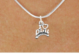 "<bR>                  EXCLUSIVELY OURS!!<BR>            AN ALLAN ROBIN DESIGN!!<BR>   CLICK HERE TO SEE 600+ EXCITING<BR>      CHANGES THAT YOU CAN MAKE!<BR>                 LEAD & NICKEL FREE!!<BR>W1181SN - ""I LOVE DRILL"" CHARM <Br>& NECKLACE FROM $4.50 TO $8.35 �2012"