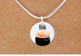"""<bR>                              EXCLUSIVELY OURS!!<BR>                        AN ALLAN ROBIN DESIGN!!<BR>               CLICK HERE TO SEE 600+ EXCITING<BR>                  CHANGES THAT YOU CAN MAKE!<BR>                             LEAD & NICKEL FREE!!<BR>W1192SN - """"RINK PRINCESS"""" WOMENS ICE HOCKEY<Br>CHARM & NECKLACE FROM $4.50 TO $8.35 �2012"""