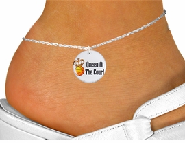 "<bR>                                  EXCLUSIVELY OURS!!<BR>                            AN ALLAN ROBIN DESIGN!!<BR>                   CLICK HERE TO SEE 600+ EXCITING<BR>                      CHANGES THAT YOU CAN MAKE!<BR>                               LEAD & NICKEL FREE!!<BR>W1219SAK - ""QUEEN OF THE COURT"" BASKETBALL <Br>CHARM  & ANKLET FROM $3.35 TO $8.00 �2012"