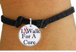 """<bR>                          EXCLUSIVELY OURS!!<BR>                    AN ALLAN ROBIN DESIGN!!<BR>           CLICK HERE TO SEE 600+ EXCITING<BR>              CHANGES THAT YOU CAN MAKE!<BR>                       LEAD & NICKEL FREE!!<BR>W1229SB - AUTISM RIBBON """"I WALK FOR A CURE"""" <Br>CHARM & CHILDRENS BRACELET FROM $4.15 TO $8.00 �2012"""