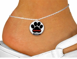 "<bR>                     EXCLUSIVELY OURS!!<BR>               AN ALLAN ROBIN DESIGN!!<BR>      CLICK HERE TO SEE 600+ EXCITING<BR>         CHANGES THAT YOU CAN MAKE!<BR>                  LEAD & NICKEL FREE!!<BR>W1259SAK - "" ANIMAL RESCUE"" WITH PAW <Br>                 DISK CHARM & ANKLET <BR>          FROM $3.35 TO $8.00 �2012"