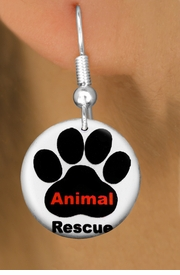 "<bR>                    EXCLUSIVELY OURS!!<BR>              AN ALLAN ROBIN DESIGN!!<BR>     CLICK HERE TO SEE 600+ EXCITING<BR>        CHANGES THAT YOU CAN MAKE!<BR>                   LEAD & NICKEL FREE!! <BR>   W1259SE - ""ANIMAL RESCUE"" WITH PAW<Br>                 DISK CHARM EARRINGS <BR>           FROM $4.50 TO $8.35 �2012"