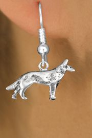 <bR>               EXCLUSIVELY OURS!!<BR>         AN ALLAN ROBIN DESIGN!!<BR>CLICK HERE TO SEE 600+ EXCITING<BR>   CHANGES THAT YOU CAN MAKE!<BR>              LEAD & NICKEL FREE!! <BR>   W1266SE - STANDING WOLF <BR>   CHARM PIERCED EAR EARRINGS <BR>      FROM $4.50 TO $8.35 �2012