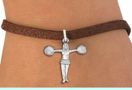 """<bR>               EXCLUSIVELY OURS!!<BR>         AN ALLAN ROBIN DESIGN!!<BR>CLICK HERE TO SEE 600+ EXCITING<BR>   CHANGES THAT YOU CAN MAKE!<BR>             LEAD & NICKEL FREE!! <BR>W1267SB - """"T"""" POSE CHEERLEADER <BR>           CHARM  AND BRACELET <BR>     FROM $4.15 TO $8.00 �2012"""