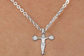 """<bR>               EXCLUSIVELY OURS!!<BR>         AN ALLAN ROBIN DESIGN!!<BR>CLICK HERE TO SEE 600+ EXCITING<BR>   CHANGES THAT YOU CAN MAKE!<BR>              LEAD & NICKEL FREE!! <BR>W1267SN -  """"T-POSE"""" CHEERLEADER <Br>  CHARM & CHILDRENS NECKLACE<BR>      FROM $4.50 TO $8.35 �2012"""