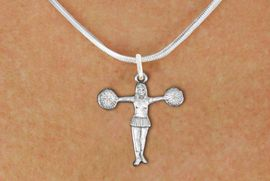 """<bR>               EXCLUSIVELY OURS!!<BR>         AN ALLAN ROBIN DESIGN!!<BR>CLICK HERE TO SEE 600+ EXCITING<BR>   CHANGES THAT YOU CAN MAKE!<BR>              LEAD & NICKEL FREE!! <BR>W1267SN -  """"T-POSE"""" CHEERLEADER <Br>              CHARM & NECKLACE<BR>      FROM $4.50 TO $8.35 �2012"""
