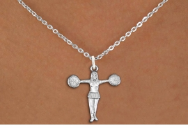 "<bR>               EXCLUSIVELY OURS!!<BR>         AN ALLAN ROBIN DESIGN!!<BR>CLICK HERE TO SEE 600+ EXCITING<BR>   CHANGES THAT YOU CAN MAKE!<BR>              LEAD & NICKEL FREE!! <BR>W1267SN -  ""T-POSE"" CHEERLEADER <Br>              CHARM & NECKLACE<BR>      FROM $4.50 TO $8.35 �2012"