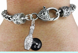 <bR>                   EXCLUSIVELY OURS!!<BR>             AN ALLAN ROBIN DESIGN!!<BR>    CLICK HERE TO SEE 600+ EXCITING<BR>       CHANGES THAT YOU CAN MAKE!<BR>                 LEAD & NICKEL FREE!! <BR>W1272SB - BOWLING BALL AND PIN <BR>CHARM & HEART CLASP BRACELET <BR>         FROM $5.63 TO $12.50 �2012