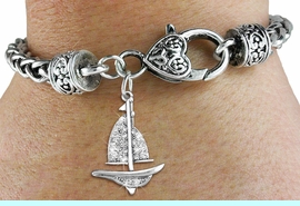<bR>                   EXCLUSIVELY OURS!!<BR>             AN ALLAN ROBIN DESIGN!!<BR>    CLICK HERE TO SEE 600+ EXCITING<BR>       CHANGES THAT YOU CAN MAKE!<BR>                 LEAD & NICKEL FREE!!<BR>      W1274SB - DETAILED SAILBOAT <BR>CHARM & HEART CLASP BRACELET <BR>         FROM $5.63 TO $12.50 �2012