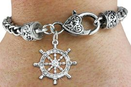 <bR>                   EXCLUSIVELY OURS!!<BR>             AN ALLAN ROBIN DESIGN!!<BR>    CLICK HERE TO SEE 600+ EXCITING<BR>       CHANGES THAT YOU CAN MAKE!<BR>                 LEAD & NICKEL FREE!!<BR>W1281SB - SHIPS STEERING WHEEL <BR>   CHARM & HEART CLASP BRACELET <BR>         FROM $5.63 TO $12.50 �2012