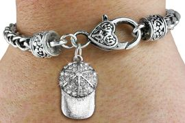 <bR>                   EXCLUSIVELY OURS!!<BR>             AN ALLAN ROBIN DESIGN!!<BR>    CLICK HERE TO SEE 600+ EXCITING<BR>       CHANGES THAT YOU CAN MAKE!<BR>                 LEAD & NICKEL FREE!!<BR>W1283SB - BRIMMED SPORTS CAP <BR>   CHARM & HEART CLASP BRACELET <BR>         FROM $5.63 TO $12.50 �2012