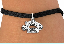 """<bR>               EXCLUSIVELY OURS!!<BR>         AN ALLAN ROBIN DESIGN!!<BR>CLICK HERE TO SEE 600+ EXCITING<BR>   CHANGES THAT YOU CAN MAKE!<BR>             LEAD & NICKEL FREE!! <BR>W1285SB - POLISHED SILVER TONE <BR>""""COLORGUARD MOM"""" CHARM BRACELET <BR>     FROM $4.15 TO $8.00 �2012"""