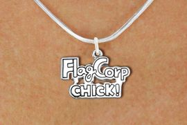 """<bR>               EXCLUSIVELY OURS!!<BR>         AN ALLAN ROBIN DESIGN!!<BR>CLICK HERE TO SEE 600+ EXCITING<BR>   CHANGES THAT YOU CAN MAKE!<BR>              LEAD & NICKEL FREE!! <BR>W1287SN -  """"FLAG CORP CHICK!"""" <Br>SILVER TONE CHARM & NECKLACE <BR>      FROM $4.50 TO $8.35 �2012"""