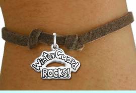 """<bR>               EXCLUSIVELY OURS!!<BR>         AN ALLAN ROBIN DESIGN!!<BR>CLICK HERE TO SEE 600+ EXCITING<BR>   CHANGES THAT YOU CAN MAKE!<BR>             LEAD & NICKEL FREE!! <BR>W1288SB - """"WINTER GUARD ROCKS!"""" <BR>SILVER TONE CHILDS CHARM BRACELET <BR>     FROM $4.15 TO $8.00 �2012"""
