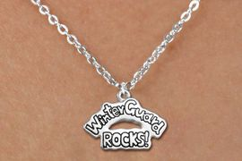 """<bR>               EXCLUSIVELY OURS!!<BR>         AN ALLAN ROBIN DESIGN!!<BR>CLICK HERE TO SEE 600+ EXCITING<BR>   CHANGES THAT YOU CAN MAKE!<BR>              LEAD & NICKEL FREE!! <BR>W1288SN -  """"WINTER GUARD ROCKS!"""" <Br>SILVER TONE CHARM & CHILDS NECKLACE <BR>      FROM $4.50 TO $8.35 �2012"""