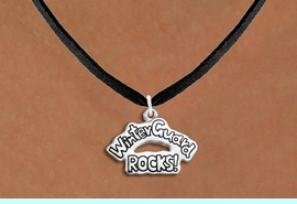 """<bR>               EXCLUSIVELY OURS!!<BR>         AN ALLAN ROBIN DESIGN!!<BR>CLICK HERE TO SEE 600+ EXCITING<BR>   CHANGES THAT YOU CAN MAKE!<BR>              LEAD & NICKEL FREE!! <BR>W1288SN -  """"WINTER GUARD ROCKS!"""" <Br>SILVER TONE CHARM & NECKLACE <BR>      FROM $4.50 TO $8.35 �2012"""