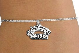 "<bR>               EXCLUSIVELY OURS!!<BR>         AN ALLAN ROBIN DESIGN!!<BR>CLICK HERE TO SEE 600+ EXCITING<BR>   CHANGES THAT YOU CAN MAKE!<BR>             LEAD & NICKEL FREE!! <BR>W1289SB - ""COLOR GUARD CHICK!""<BR>SILVER TONE CHILDS CHARM BRACELET <BR>     FROM $4.15 TO $8.00 �2012"