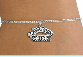 """<bR>               EXCLUSIVELY OURS!!<BR>         AN ALLAN ROBIN DESIGN!!<BR>CLICK HERE TO SEE 600+ EXCITING<BR>   CHANGES THAT YOU CAN MAKE!<BR>             LEAD & NICKEL FREE!! <BR>W1289SB - """"COLOR GUARD CHICK!""""<BR>SILVER TONE CHILDS CHARM BRACELET <BR>     FROM $4.15 TO $8.00 �2012"""