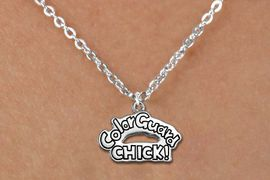 """<bR>               EXCLUSIVELY OURS!!<BR>         AN ALLAN ROBIN DESIGN!!<BR>CLICK HERE TO SEE 600+ EXCITING<BR>   CHANGES THAT YOU CAN MAKE!<BR>              LEAD & NICKEL FREE!! <BR>W1289SN -  """"COLOR GUARD CHICK!"""" <Br>SILVER TONE CHARM & CHILDS NECKLACE <BR>      FROM $4.50 TO $8.35 �2012"""