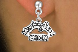 """<bR>               EXCLUSIVELY OURS!!<BR>         AN ALLAN ROBIN DESIGN!!<BR>CLICK HERE TO SEE 600+ EXCITING<BR>   CHANGES THAT YOU CAN MAKE!<BR>              LEAD & NICKEL FREE!! <BR>W1290SE -  SILVER TONE CHARM <BR>"""" MARCHING BAND CHICK!"""" EARRINGS  <BR>      FROM $4.50 TO $8.35 �2012"""