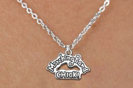 "<BR>  MARCHING BAND CHICK NECKLACE<bR>               EXCLUSIVELY OURS!!<BR>         AN ALLAN ROBIN DESIGN!!<BR>             LEAD & NICKEL FREE!! <BR>W1290N1 - ""MARCHING BAND CHICK!"" <Br>SILVER TONE CHARM  NECKLACE <BR>                   $9.68 EACH �2012"