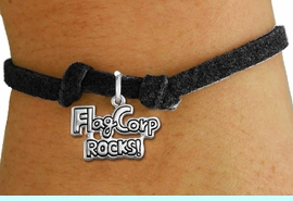 """<bR>               EXCLUSIVELY OURS!!<BR>         AN ALLAN ROBIN DESIGN!!<BR>CLICK HERE TO SEE 600+ EXCITING<BR>   CHANGES THAT YOU CAN MAKE!<BR>             LEAD & NICKEL FREE!! <BR>W1291SB - """"FLAG CORP ROCKS!""""<BR>SILVER TONE CHILDS CHARM BRACELET <BR>     FROM $4.15 TO $8.00 �2012"""