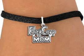 """<bR>               EXCLUSIVELY OURS!!<BR>         AN ALLAN ROBIN DESIGN!!<BR>CLICK HERE TO SEE 600+ EXCITING<BR>   CHANGES THAT YOU CAN MAKE!<BR>             LEAD & NICKEL FREE!! <BR>W1292SB - POLISHED SILVER TONE <BR>""""FLAG CORP MOM"""" CHARM BRACELET <BR>     FROM $4.15 TO $8.00 �2012"""