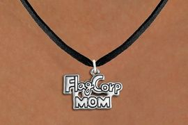 """<bR>               EXCLUSIVELY OURS!!<BR>         AN ALLAN ROBIN DESIGN!!<BR>CLICK HERE TO SEE 600+ EXCITING<BR>   CHANGES THAT YOU CAN MAKE!<BR>              LEAD & NICKEL FREE!! <BR>W1292SN -  """"FLAG CORP MOM"""" <Br>SILVER TONE CHARM & NECKLACE <BR>      FROM $4.50 TO $8.35 �2012"""