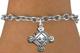 "<bR>               EXCLUSIVELY OURS!!<BR>         AN ALLAN ROBIN DESIGN!!<BR>CLICK HERE TO SEE 600+ EXCITING<BR>   CHANGES THAT YOU CAN MAKE!<BR>             LEAD & NICKEL FREE!! <BR>W293SB - SOFTBALL CHARM BRACELET <BR>""A DIAMOND IS A GIRLS BEST FRIEND"" <BR>     FROM $4.15 TO $8.00 �2012"