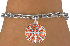 <bR>               EXCLUSIVELY OURS!!<BR>         AN ALLAN ROBIN DESIGN!!<BR>CLICK HERE TO SEE 600+ EXCITING<BR>   CHANGES THAT YOU CAN MAKE!<BR>              LEAD & NICKEL FREE!!<BR>    W906SB - AUSTRIAN CRYSTAL <Br> BASKETBALL CHARM &  BRACELET<bR>              FROM $5.40 TO $9.85