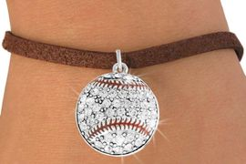 <bR>               EXCLUSIVELY OURS!!<BR>         AN ALLAN ROBIN DESIGN!!<BR>CLICK HERE TO SEE 600+ EXCITING<BR>   CHANGES THAT YOU CAN MAKE!<BR>              LEAD & NICKEL FREE!!<BR>    W907SB - AUSTRIAN CRYSTAL<Br>   BASEBALL CHARM &  BRACELET<bR>              FROM $5.40 TO $9.85