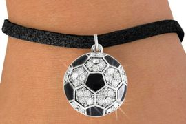 <bR>               EXCLUSIVELY OURS!!<BR>         AN ALLAN ROBIN DESIGN!!<BR>CLICK HERE TO SEE 600+ EXCITING<BR>   CHANGES THAT YOU CAN MAKE!<BR>              LEAD & NICKEL FREE!!<BR>    W908SB - AUSTRIAN CRYSTAL<Br> SOCCER BALL CHARM &  BRACELET<bR>              FROM $5.40 TO $9.85