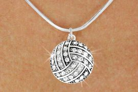 <bR>               EXCLUSIVELY OURS!!<BR>         AN ALLAN ROBIN DESIGN!!<BR>CLICK HERE TO SEE 600+ EXCITING<BR>   CHANGES THAT YOU CAN MAKE!<BR>              LEAD & NICKEL FREE!!<BR>     W909SN - AUSTRIAN CRYSTAL<Br>VOLLEYBALL CHARM  &  NECKLACE<Br>               FROM $5.40 TO $9.85