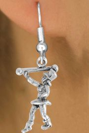 """<bR>               EXCLUSIVELY OURS!!<BR>         AN ALLAN ROBIN DESIGN!!<BR>CLICK HERE TO SEE 600+ EXCITING<BR>   CHANGES THAT YOU CAN MAKE!<BR>              LEAD & NICKEL FREE!!<BR>      W910SE - """"MAJORETTE""""<Br>  EARRINGS FROM $4.50 TO $8.35"""