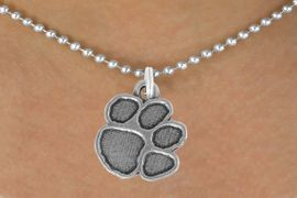 """<bR>               EXCLUSIVELY OURS!!<BR>         AN ALLAN ROBIN DESIGN!!<BR>CLICK HERE TO SEE 600+ EXCITING<BR>   CHANGES THAT YOU CAN MAKE!<BR>              LEAD & NICKEL FREE!!<BR>      W914SN - """"PAW PRINT""""<Br>  NECKLACE FROM $5.55 TO $9.00"""