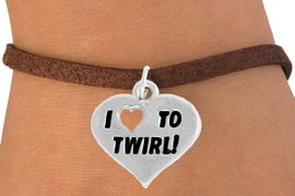 """<bR>               EXCLUSIVELY OURS!!<BR>         AN ALLAN ROBIN DESIGN!!<BR>CLICK HERE TO SEE 600+ EXCITING<BR>   CHANGES THAT YOU CAN MAKE!<BR>              LEAD & NICKEL FREE!!<BR>        W963SB - """"I LOVE TO TWIRL"""" <Br>     BRACELET FROM $4.15 TO $8.00"""