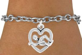 "<bR>               EXCLUSIVELY OURS!!<BR>         AN ALLAN ROBIN DESIGN!!<BR>CLICK HERE TO SEE 600+ EXCITING<BR>   CHANGES THAT YOU CAN MAKE!<BR>              LEAD & NICKEL FREE!!<BR>  W964SB - ""SWIMMING"" BRACELET<Br>                FROM $4.15 TO $8.00"