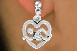 """<bR>               EXCLUSIVELY OURS!!<BR>         AN ALLAN ROBIN DESIGN!!<BR>CLICK HERE TO SEE 600+ EXCITING<BR>   CHANGES THAT YOU CAN MAKE!<BR>              LEAD & NICKEL FREE!!<BR>  W964SE - """"SWIMMING"""" EARRINGS<Br>               FROM $4.50 TO $8.35"""