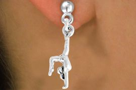"""<bR>               EXCLUSIVELY OURS!!<BR>         AN ALLAN ROBIN DESIGN!!<BR>CLICK HERE TO SEE 600+ EXCITING<BR>   CHANGES THAT YOU CAN MAKE!<BR>              LEAD & NICKEL FREE!!<BR> W965SE - """"GYMNAST ON HANDS"""" <Br>       EARRINGS FROM $4.50 TO $8.35"""