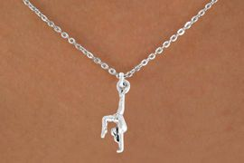 "<bR>               EXCLUSIVELY OURS!!<BR>         AN ALLAN ROBIN DESIGN!!<BR>CLICK HERE TO SEE 600+ EXCITING<BR>   CHANGES THAT YOU CAN MAKE!<BR>              LEAD & NICKEL FREE!!<BR>  W965SN - ""GYMNAST ON HANDS""<Br>    NECKLACE FROM $4.50 TO $8.35<BR>                                 �2011"