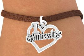 "<bR>               EXCLUSIVELY OURS!!<BR>         AN ALLAN ROBIN DESIGN!!<BR>CLICK HERE TO SEE 600+ EXCITING<BR>   CHANGES THAT YOU CAN MAKE!<BR>              LEAD & NICKEL FREE!!<BR>  W966SB - ""I LOVE GYMNASTICS"" <Br>       BRACELET FROM $4.15 TO $8.00<BR>                             �2011"