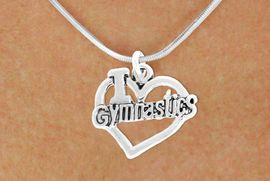 "<bR>               EXCLUSIVELY OURS!!<BR>         AN ALLAN ROBIN DESIGN!!<BR>CLICK HERE TO SEE 600+ EXCITING<BR>   CHANGES THAT YOU CAN MAKE!<BR>              LEAD & NICKEL FREE!!<BR>  W966SN - ""I LOVE GYMNASTICS""<Br>    NECKLACE FROM $4.50 TO $8.35"