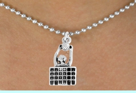 """<bR>               EXCLUSIVELY OURS!!<BR>         AN ALLAN ROBIN DESIGN!!<BR>CLICK HERE TO SEE 600+ EXCITING<BR>   CHANGES THAT YOU CAN MAKE!<BR>              LEAD & NICKEL FREE!!<BR>  W967SN - """"SPIKE"""" VOLLEYBALL<Br>    NECKLACE FROM $4.50 TO $8.35"""